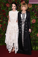Bee Carrozzini and Dame Anna Wintour<br /> arriving for the Evening Standard Theatre Awards 2019, London.<br /> <br /> ©Ash Knotek  D3539 24/11/2019