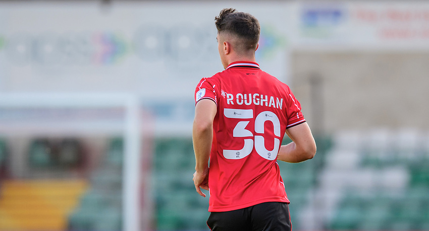 Lincoln City's Sean Roughan<br /> <br /> Photographer Chris Vaughan/CameraSport<br /> <br /> The EFL Sky Bet League One - Saturday 12th September 2020 - Lincoln City v Oxford United - LNER Stadium - Lincoln<br /> <br /> World Copyright © 2020 CameraSport. All rights reserved. 43 Linden Ave. Countesthorpe. Leicester. England. LE8 5PG - Tel: +44 (0) 116 277 4147 - admin@camerasport.com - www.camerasport.com - Lincoln City v Oxford United