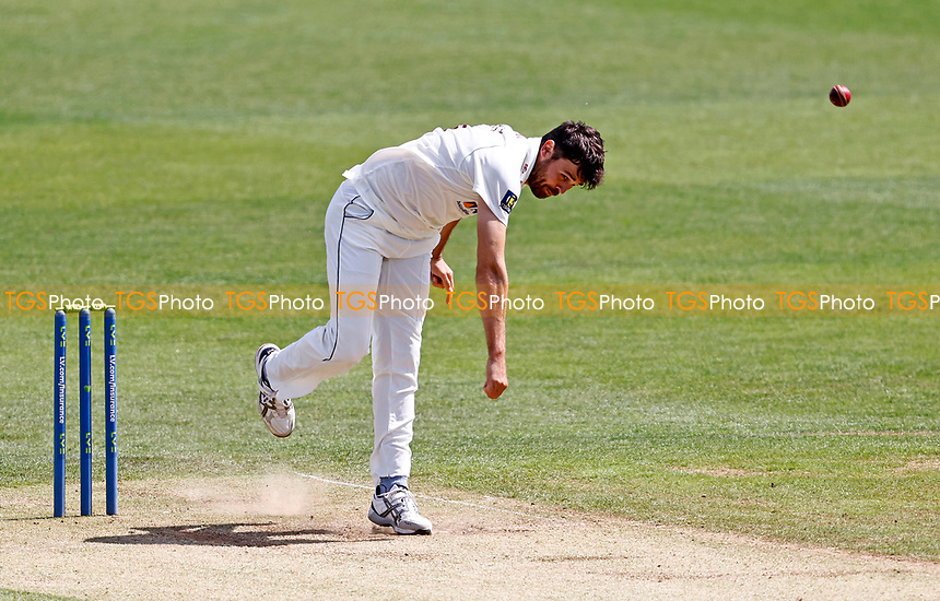 Nathan Buck bowls for Northants during Kent CCC vs Northamptonshire CCC, LV Insurance County Championship Group 3 Cricket at The Spitfire Ground on 5th June 2021