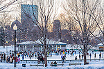 Ice skating at the Frog Pond, Boston, MA