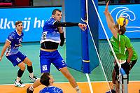 GRONINGEN - Volleybal, Lycurgus - SSS , Eredivisie, Martiniplaza, seizoen 2021-2022,  03-10-2021,  smash Lycurgus speler Niels de Vries