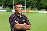 Jerry Collins the former New Zealand All Black player who has signed a two-year deal with the Ospreys after spending last season in France with Toulon. He is pictured at the Ospreys training base - the Llandarcy Institute of Sport near Swansea.