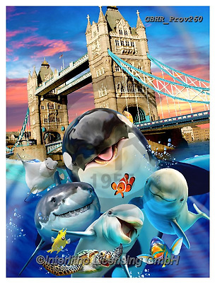Howard, REALISTIC ANIMALS, REALISTISCHE TIERE, ANIMALES REALISTICOS, selfies,,shark,orca,tower bridge paintings+++++,GBHRPROV260,#a#, EVERYDAY