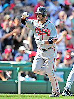 25 September 2010: Atlanta Braves infielder Alex Gonzalez rounds the bases after hitting a 3-run homer against the Washington Nationals at Nationals Park in Washington, DC. The Braves shut out the Nationals 5-0 to even their 3-game series at one win apiece. The Braves' victory was the 2500th career win for skipper Bobby Cox. Cox will retire at the end of the 2010 season, crowning a 29-year managerial career. Mandatory Credit: Ed Wolfstein Photo