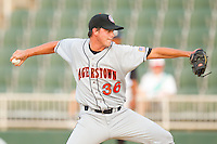 Starting pitcher Billy Ott #36 of the Hagerstown Suns in action against the Kannapolis Intimidators at Fieldcrest Cannon Stadium August 10, 2010, in Kannapolis, North Carolina.  Photo by Brian Westerholt / Four Seam Images