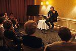 Robert D'Aubigny  real name Robert Fuller at a Exegesis  meeting Great Western Hotel Paddington London 1970s