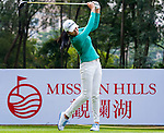 Mi Jung Hur of Korea in action during the Hyundai China Ladies Open 2014 Pro-am on December 10 2014, in Shenzhen, China. Photo by Xaume Olleros / Power Sport Images