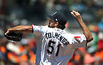 Reno Aces' Josh Collmenter pitches against the Iowa Cubsat Greater Nevada Field in Reno, Nev., on Tuesday, May 17, 2016. <br />Photo by Cathleen Allison