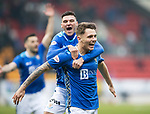 St Johnstone v Hamilton Accies…19.01.19…   McDiarmid Park    Scottish Cup 4th Round<br />Jason Kerr celebrates putting saints 1-0 up with Ross Callachan<br />Picture by Graeme Hart. <br />Copyright Perthshire Picture Agency<br />Tel: 01738 623350  Mobile: 07990 594431