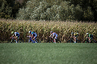 riders trying to force an early break. <br /> <br /> 23th Memorial Rik Van Steenbergen 2019<br /> One Day Race: Beerse > Arendonk 208km (UCI 1.1)<br /> ©kramon