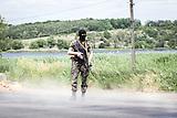 28_prorussische Straßensperren in der Nähe von Donezk