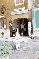 wine shop domaine du terme gigondas rhone france
