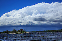 """Storm Cloud over Basswood Lake""<br />