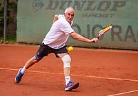 Hilversum, The Netherlands,  August 17, 2021,  Tulip Tennis Center, NKS, National Senior Tennis Championships, Men's 65+  Frans de Haan (NED)  <br /> Photo: Tennisimages/Henk Koster