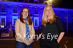 The Ashe Memorial Hall turned blue to honour the   International Week of Deaf People and Irish Sign Lanuage Awareness week to celebrate the Irish Sign Lanuage Act 2017, l to r: Bernadette O'Connor and Catherine White.