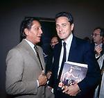 VALENTINO GARAVANI CON FRANCESCO RUTELLI<br /> CAMPIDOGLIO ROMA 1989