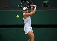 5th July 2021, Wimbledon, SW London, England; 2021 Wimbledon Championships, day 7; Ashleigh Barty , Australia