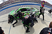 2017 Monster Energy NASCAR Cup Series<br /> Auto Club 400<br /> Auto Club Speedway, Fontana, CA USA<br /> Sunday 26 March 2017<br /> Kyle Busch, Interstate Batteries Toyota Camry pit stop<br /> World Copyright: Nigel Kinrade/LAT Images<br /> ref: Digital Image 17FON1nk06086