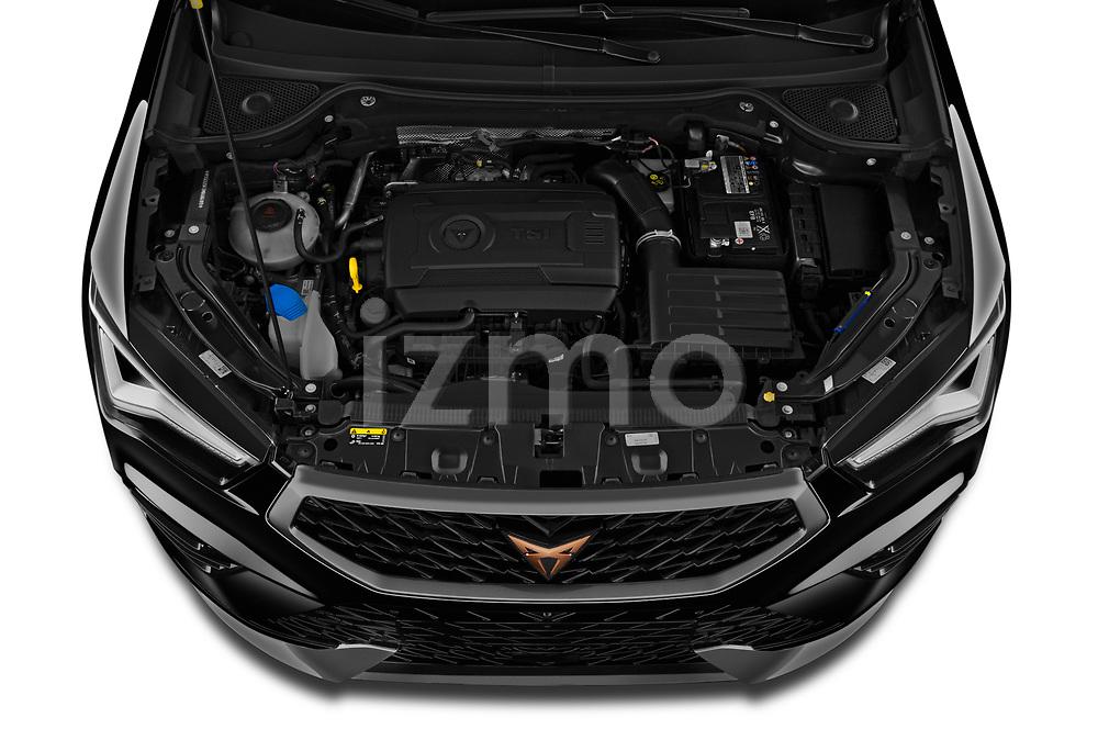 High angle engine detail of a 2021 Cupra Ateca - 5 Door SUV