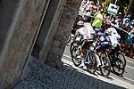 The peloton during Stage 2 of La Vuelta d'Espana 2021, running 166.7km from Caleruega. VIII Centenario de Santo Domingo de Guzmán to Burgos. Gamonal, Spain. 15th August 2021.    <br /> Picture: Unipublic/Charly Lopez   Cyclefile<br /> <br /> All photos usage must carry mandatory copyright credit (© Cyclefile   Unipublic/Charly Lopez)