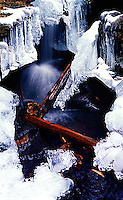 Water falling through ice<br />