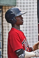 Elizabethton Twins shortstop Nick Gordon #9 during a game against the  Bristol Pirates at Joe O'Brien Field June 30, 2014 in Elizabethton, Tennessee. The Twins defeated the Pirates 8-5 in game one of a double header. (Tony Farlow/Four Seam Images)
