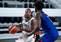 22nd February 2021, Podgorica, Montenegro; Eurobasket International Basketball qualification for the 2022 European Championships, England versus France;  Andrew Albicy of France