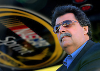 Feb 07, 2009; Daytona Beach, FL, USA; NASCAR Sprint Cup Series president Mike Helton during practice for the Daytona 500 at Daytona International Speedway. Mandatory Credit: Mark J. Rebilas-