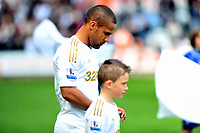 Pictured: Wayne Routledge.<br /> Saturday 04 May 2013<br /> Re: Barclay's Premier League, Swansea City FC v Manchester City at the Liberty Stadium, south Wales.