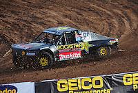 Dec. 11, 2011; Chandler, AZ, USA;  LOORRS pro 4 driver Kyle LeDuc during the Lucas Oil Challenge Cup at Firebird International Raceway. Mandatory Credit: Mark J. Rebilas-
