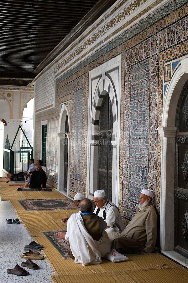 Tripoli, Libya - Old Men Talking, Karamanli Mosque, 18th Century