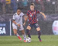 EAST HARTFORD, CT - JULY 1: Emily Sonnett #14 of the USWNT passes the ball during a game between Mexico and USWNT at Rentschler Field on July 1, 2021 in East Hartford, Connecticut.