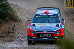 Daniel Sordo/Marc Martí (Hyundai i20 WRC) during the World Rally Car RACC Catalunya Costa Dourada 2016 / Rally Spain, in Catalunya, Spain. October 15, 2016. (ALTERPHOTOS/Rodrigo Jimenez)