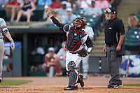 Pat Rumoro (18) of the Louisville Cardinals on defense against the Florida State Seminoles in Game Eleven of the 2017 ACC Baseball Championship at Louisville Slugger Field on May 26, 2017 in Louisville, Kentucky. The Seminoles defeated the Cardinals 6-2. (Brian Westerholt/Four Seam Images)
