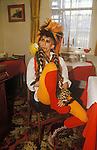 Martin Degville on tour Sigue Sigue Sputnik. Punk band 1980s  Bed and Breakfast hotel Newcastle Upon Tyne. UK