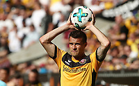 Philip Heise einwerfend Einwurf /   / Portrait     <br /> / Sport / Football /   2.Bundesliga  DFL /  2017/2018 / 13.05.2018 / SG Dynamo Dresden SGD vs. 1.FC Union Berlin FCU 180513047 /      <br />     *** Local Caption *** © pixathlon<br /> Contact: +49-40-22 63 02 60 , info@pixathlon.de