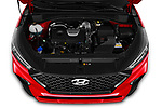 Car stock 2019 Hyundai Tucson N-Line 5 Door SUV engine high angle detail view