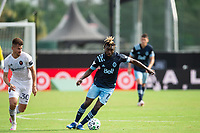 LAKE BUENA VISTA, FL - JULY 23: Leonard Owusu #17 of Vancouver Whitecaps FC dribbles the ball during a game between Chicago Fire and Vancouver Whitecaps at Wide World of Sports on July 23, 2020 in Lake Buena Vista, Florida.