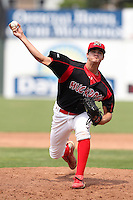 Batavia Muckdogs relief pitcher Travis Lawler (20) during a game vs. the Mahoning Valley Scrappers at Dwyer Stadium in Batavia, New York August 3, 2010.  Batavia defeated Mahoning Valley 8-1.  Photo By Mike Janes/Four Seam Images