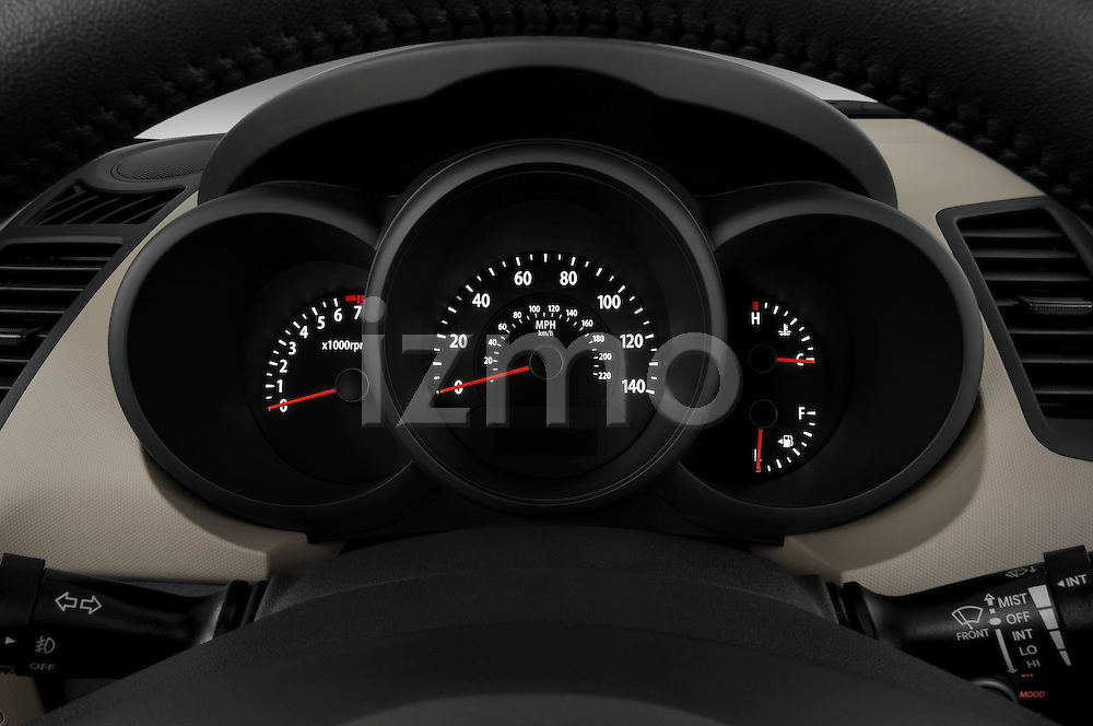 Instrument panel close up detail view of a 2010 Kia Soul!
