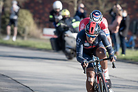 impressive ride by Jhonatan Narváez (ECU/INEOS Grenadiers) as well today, taking turns with Mathieu Van der Poel (NED/Alpecin-Fenix) to go catch the breakaway group<br /> <br /> 73rd Kuurne - Brussels - Kuurne 2021<br /> ME (1.Pro)<br /> 1 day race from Kuurne to Kuurne (BEL/197km)<br /> <br /> ©kramon