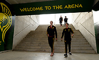 20180228 - LARNACA , CYPRUS :  Belgian Justine Vanhaevermaet and Aline Zeler pictured during a women's soccer game between Spain and the Belgian Red Flames , on friday 2 March 2018 at the AEK Arena in Larnaca , Cyprus . This is the second  game in group B for  Belgium during the Cyprus Womens Cup , a prestigious women soccer tournament as a preparation on the World Cup 2019 qualification duels. PHOTO SPORTPIX.BE | DAVID CATRY
