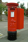 Royal Mail pillar box.