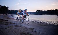 race leaders Sabrina Stultiens (NLD/Rabobank-Liv) and Ellen Van Loy (BEL/Telenet-Fidea)<br /> <br /> Zilvermeercross 2014
