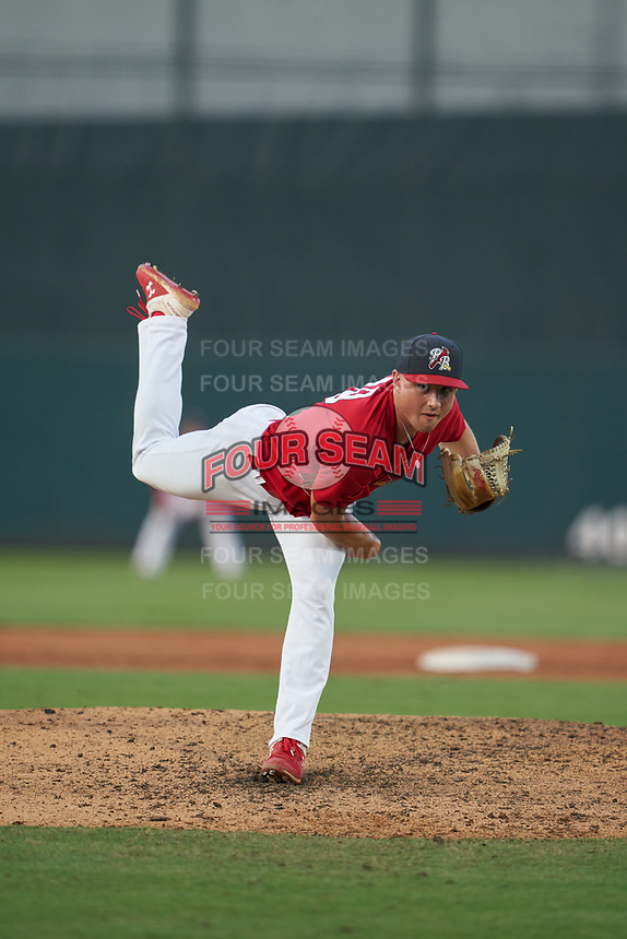 Palm Beach Cardinals pitcher Zach Prendergast (19) during a Florida State League game against the Clearwater Threshers on August 10, 2019 at Roger Dean Chevrolet Stadium in Jupiter, Florida.  Clearwater defeated Palm Beach 11-4.  (Mike Janes/Four Seam Images)