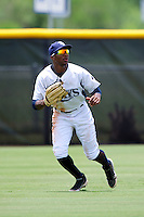 GCL Rays Bralin Jackson #5 during a Gulf Coast League game against the GCL Twins at the Charlotte Sports Complex on July 19, 2012 in Port Charlotte, Florida.  GCL Twins defeated the GCL Astros 4-2.  (Mike Janes/Four Seam Images)