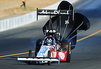 Jul. 16, 2010; Sonoma, CA, USA; NHRA top fuel dragster driver Rod Fuller during qualifying for the Fram Autolite Nationals at Infineon Raceway. Mandatory Credit: Mark J. Rebilas-