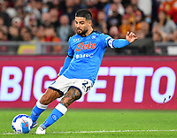 Calcio, Serie A: AS Roma vs SSC Napoli, Olympic stadium, October 24, 2021.<br /> Napoli's Lorenzo Insigne in action during the Italian Serie A football match between Roma and Napoli at Rome's Olympic stadium, on , October 24, 2021. <br /> UPDATE IMAGES PRESS/Isabella Bonotto