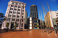 Post Office Square, Wellington CBD, at 9am, Tuesday during Level 4 lockdown for the COVID-19 pandemic in Wellington, New Zealand on Tuesday, 31 August 2021.