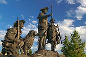 Statue of Lewis, Clark, York and dog, Seaman